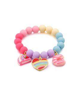 bracelet de fantaisie coeur arc en ciel girl nation glup bébé lachine
