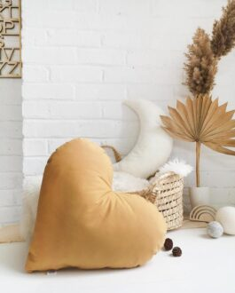 thebutterflying heartpillow coussincoeur ocre1 shopify 600x